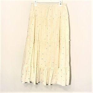 J. Jill | Layered Sequin Skirt Cream Size MP